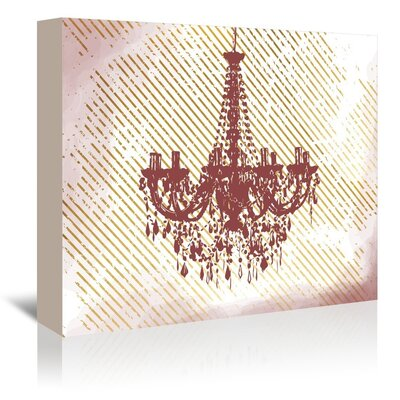 Americanflat Painting The Roses Red Graphic Art Wrapped on Canvas