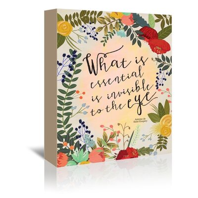 Americanflat 'What is Essential' by Mia Charro Graphic Art Wrapped on Canvas