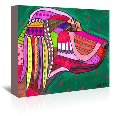 Americanflat English Setter Art Print Wrapped on Canvas