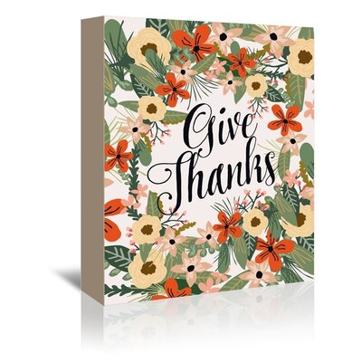 Americanflat 'Give Thanks' by Mia Charro Graphic Art Wrapped on Canvas