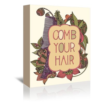 Americanflat Comb Your Hair Graphic Art Wrapped on Canvas