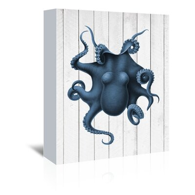 Americanflat Curiosity Octopus Graphic Art Wrapped on Canvas