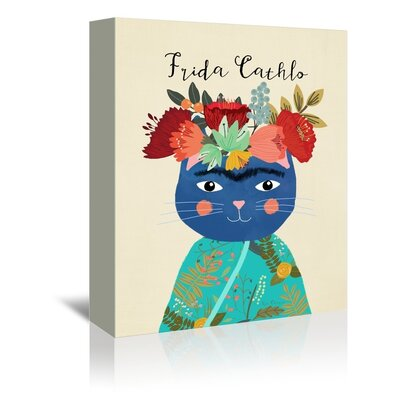 Americanflat Frida Catlho Graphic Art Wrapped on Canvas