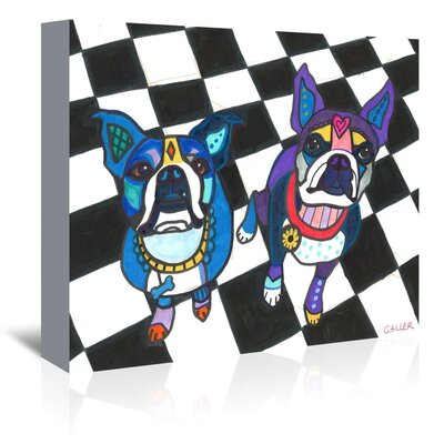 Americanflat Boston Terriers Dogs Graphic Art Wrapped on Canvas