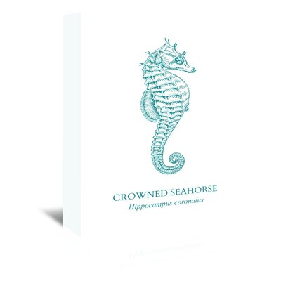 Americanflat Seahorse Graphic Art Wrapped on Canvas
