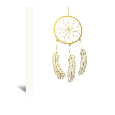Americanflat Dreamcatcher Gold Foil Graphic Art on Canvas