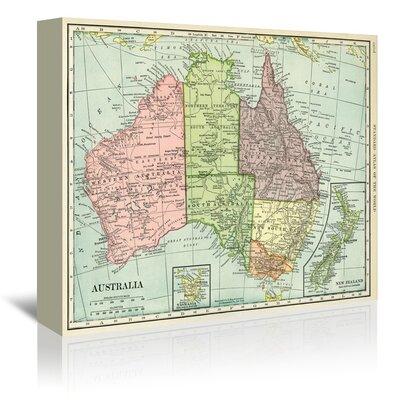 Americanflat Australia Map Graphic Art on Canvas
