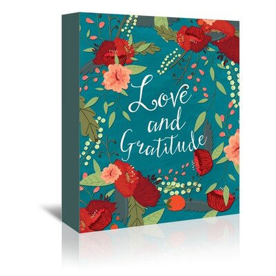 Americanflat 'Love and Gratitude' by Mia Charro Graphic Art Wrapped on Canvas