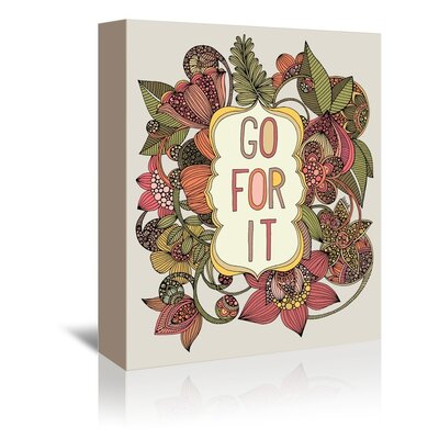 Americanflat Go For It Graphic Art Wrapped on Canvas