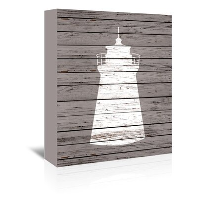 Americanflat Wooden Lighthouse Graphic Art Wrapped on Canvas