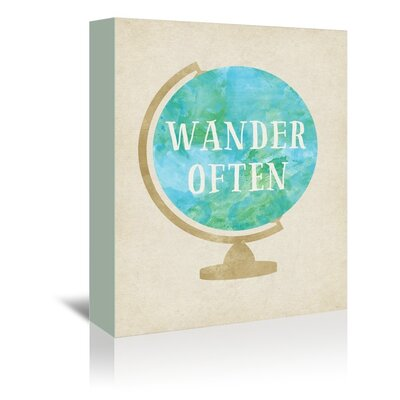 Americanflat Wander Often Graphic Art Wrapped on Canvas