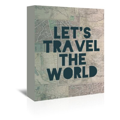 Americanflat Let's Travel Typography Wrapped on Canvas