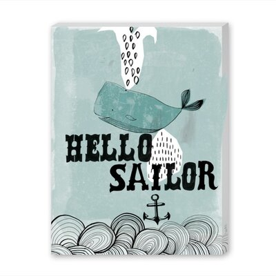 Americanflat Hello Sailor Graphic Art Wrapped on Canvas