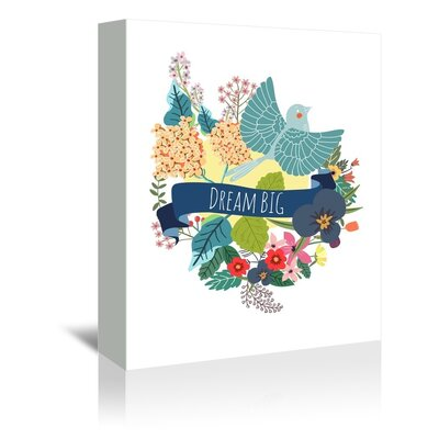 Americanflat Dream Big Graphic Art Wrapped on Canvas