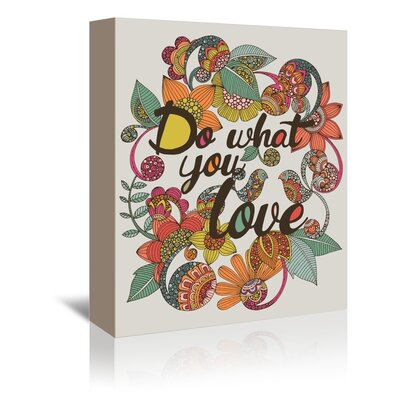 Americanflat What You Love Graphic Art Wrapped on Canvas