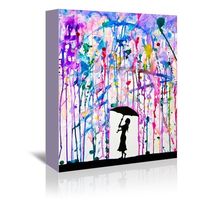 Americanflat Deluge Graphic Art Wrapped on Canvas