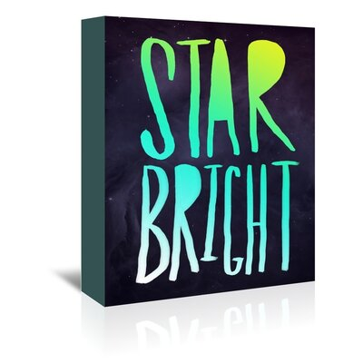 Americanflat Star Bright Typography Wrapped on Canvas