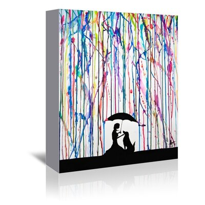 Americanflat Sempre Graphic Art Wrapped on Canvas