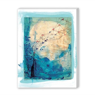 Americanflat Blue Collage Archival Art Print Wrapped on Canvas