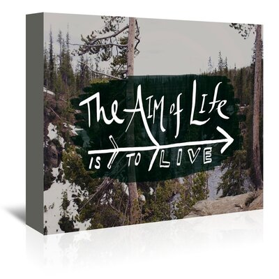 Americanflat The Aim of Life Graphic Art Wrapped on Canvas