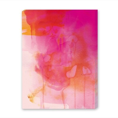 Americanflat Golden Pink Art Print Wrapped on Canvas