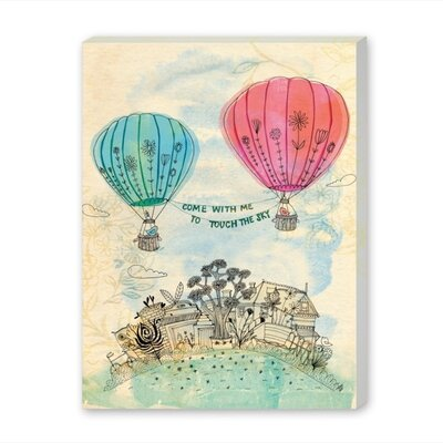 Americanflat Touch the Sky Graphic Art Wrapped on Canvas