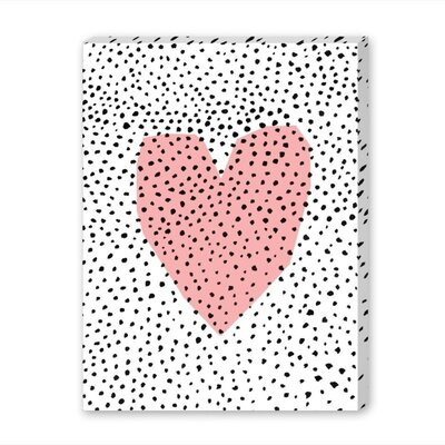 Americanflat Dotty Heart Graphic Art Wrapped on Canvas