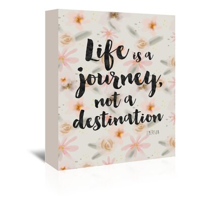 Americanflat Life is a Journey Typography Wrapped on Canvas