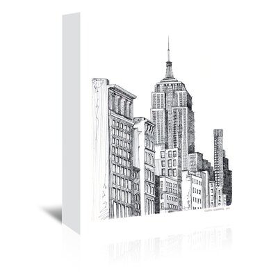 Americanflat New York Graphic Art Wrapped on Canvas