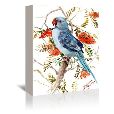 Americanflat Parakeet Painting Print on Wrapped Canvas