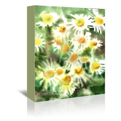 Americanflat Chamomiles Painting Print on Wrapped Canvas