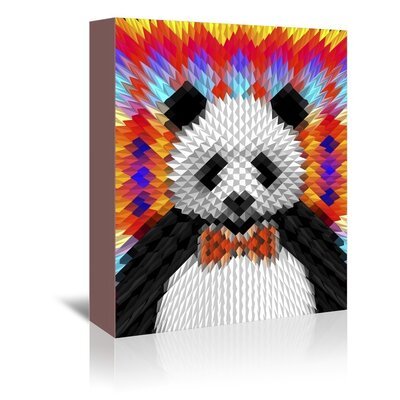 Americanflat Psychedelic Panda Graphic Art on Wrapped Canvas