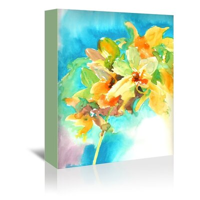 Americanflat Yellow Orchid Graphic Art on Wrapped Canvas
