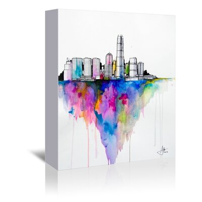 Americanflat Monolith Art Print Wrapped on Canvas