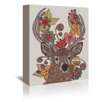 Americanflat Hello Deer Graphic Art Wrapped on Canvas