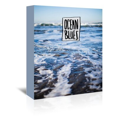Americanflat Ocean Blues Graphic Art Wrapped on Canvas