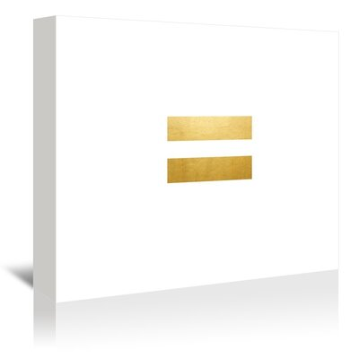 Americanflat Egalite on White Graphic Art Wrapped on Canvas