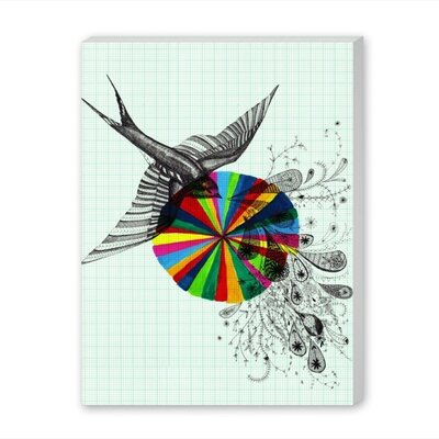 Americanflat Song Bird Graphic Art Wrapped on Canvas