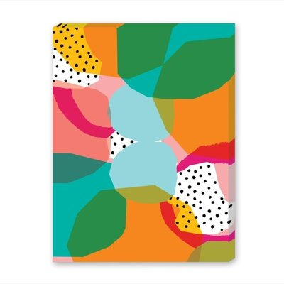 Americanflat Geometric Shapes Graphic Art Wrapped on Canvas