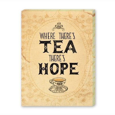 Americanflat Tea and Hope Vintage Advertisement Wrapped on Canvas