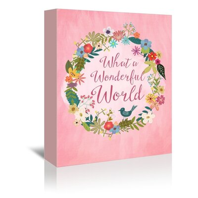 Americanflat Wonderful World' by Mia Charro Graphic Art Wrapped on Canvas