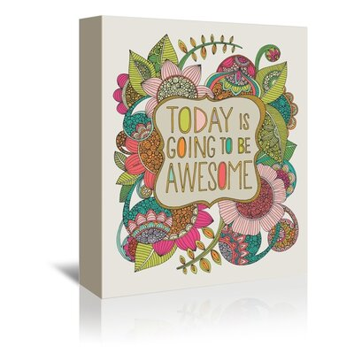 Americanflat Awesome Day Graphic Art Wrapped on Canvas