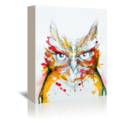 Americanflat Owl Art Print Wrapped on Canvas