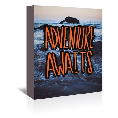 Americanflat Adventure Awaits Graphic Art Wrapped on Canvas