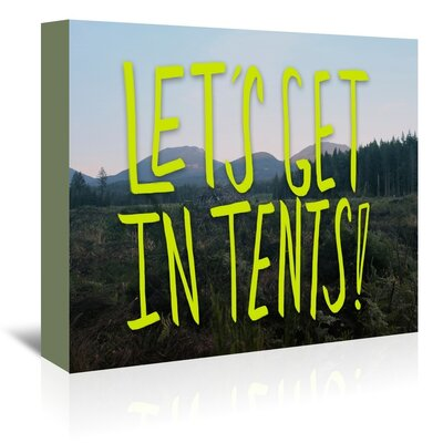 Americanflat Let's Get Tents Graphic Art Wrapped on Canvas