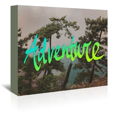 Americanflat Adventure Graphic Art Wrapped on Canvas