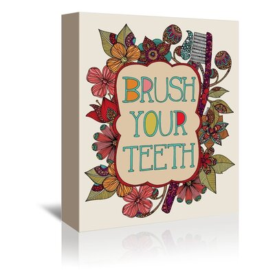 Americanflat Brush Your Teeth Graphic Art Wrapped on Canvas