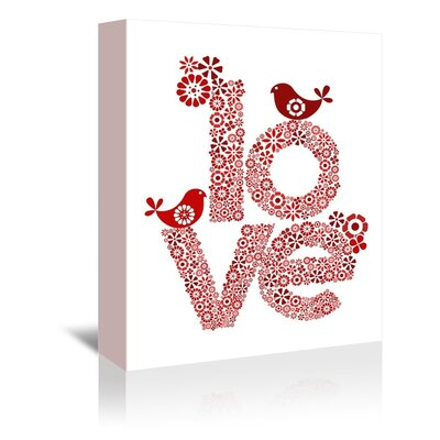 Americanflat Love Graphic Art Wrapped on Canvas