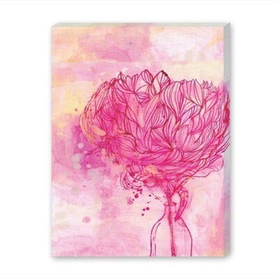 Americanflat Painted Peony Art Print Wrapped on Canvas