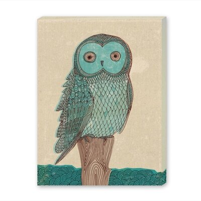 Americanflat Wise Owl Graphic Art Wrapped on Canvas